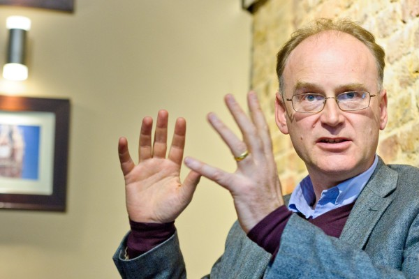 Scientist and author Matt Ridley is photographed during an interview on Friday, April 13, 2012, at St Pancreas Station in London.  (Fiona Hanson/AP Images)